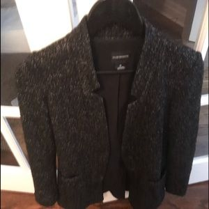 Wool blend long long blazer coat
